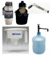 Seychelle Portable Pitcher, Straw, Sports Bottle, Canteen and Emergency Water Filters