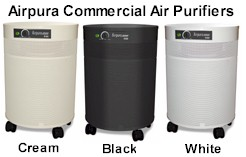 Airpura Commercial Air Purifier Colors of Black, White and Cream images
