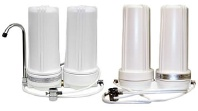 CuZn Swivel Spour and Double Diverter Countertop Water Filter image