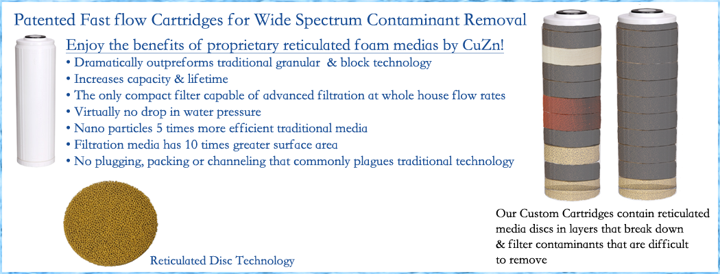 CuZn fast flow patented filtration media