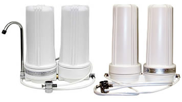 CuZn Countertop Dual Cartridge Water Filtration System image