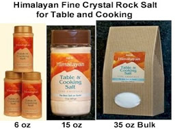 Himalayan Fine and Coarse Crystal Rock Salt for Table and Cooking Salt image