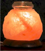 Himalayan Crystal Rock Salt Hand Carved Aroma Lamp image