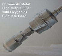 Chrome All Metal Sprite High Output Filter with Oxygenics SkinCare Showerhead image