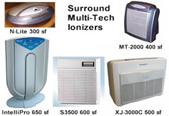 Surround Multi-Tech Air Ionizers