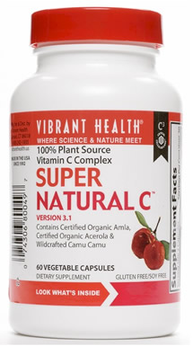 Vibrant Health Super Natural Vitamin C Whole Food Supplement